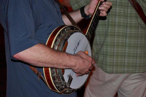 banjo, muzika, muzikantas, gitara, liaudies, Bluegrass, banjo žaidėjas