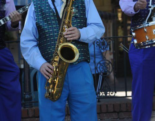 džiazas, diksilendas, naujas & nbsp, orleanas, saksofonas, saksofonas, žaisti, muzika, būgnas, banjo, muzikantai, spektaklis, atlikti, banjo, saksofonas ir būgnas