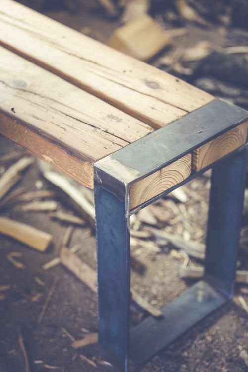 bank wooden bench sit
