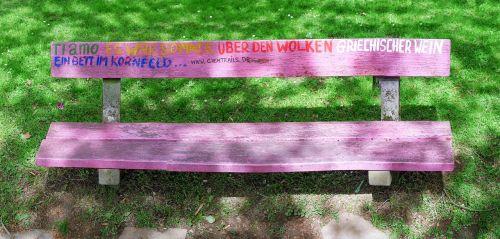 bank bench park