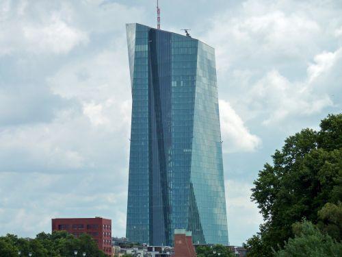 bankas,euras,Europos centrinis bankas,ecb,Frankfurtas,pinigai,dangoraižis,dangoraižiai,panorama,centrinis bankas