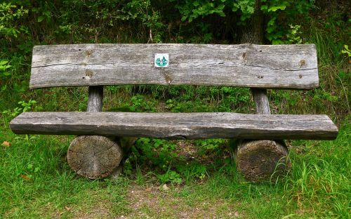 bank wooden bench tranquility base