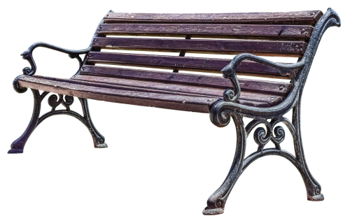 bank wooden bench rest