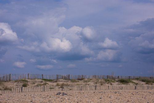 bank beach fence