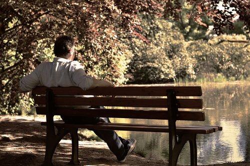 bank  park bench  sit