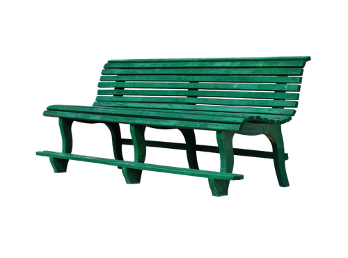 bank  wooden bench  isolated