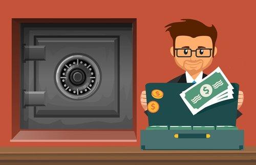 bank  deposit  safe