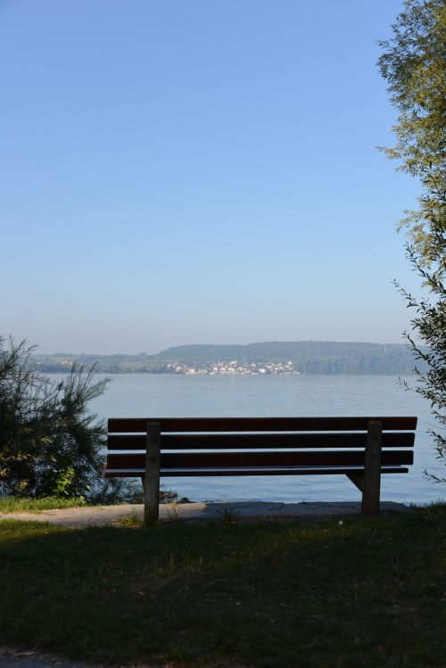 bank resting place lake constance