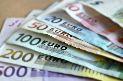 bank note euro bills