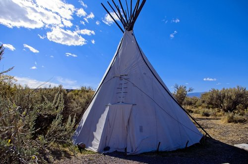 bannack camping tipi  campground  tent