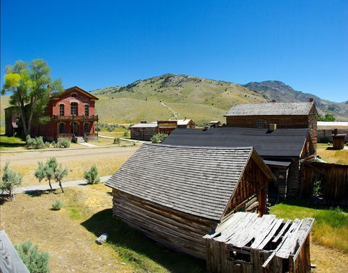 bannack ghost town  montana  usa