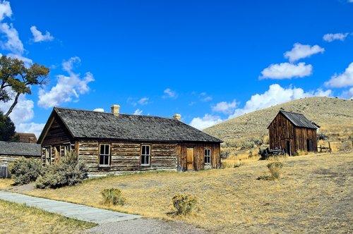 bannack house and shed  montana  usa