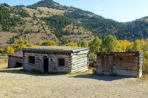 bannack jail  montana  usa