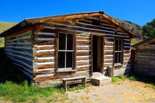 bannack log house  montana  usa