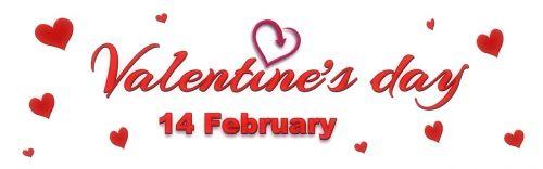 banner header valentine's day