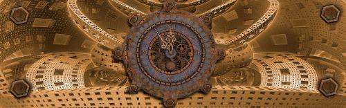 banner header clock