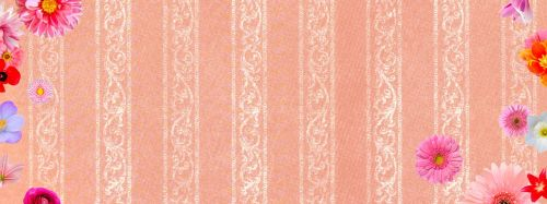 banner flowers pink