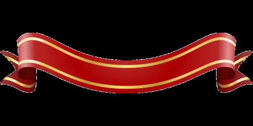 banner gold label