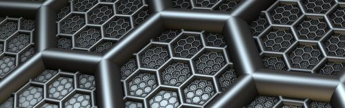 banner header hexagon