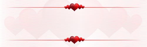 banner hearts postcard