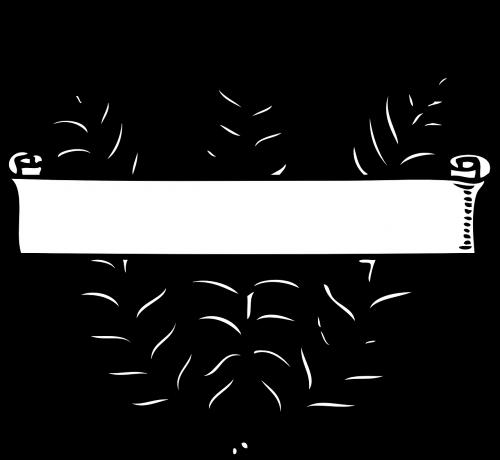 banner ribbon fern