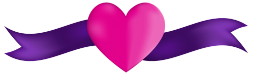banner heart ribbon