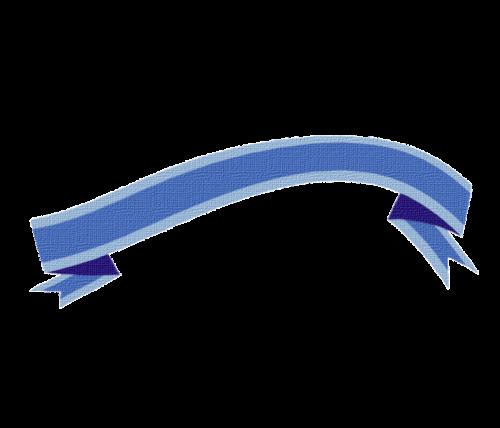 banner blue swinging
