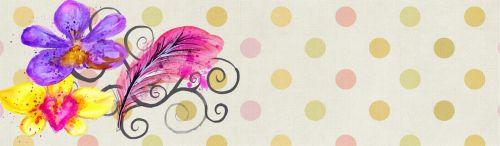 Banner Web Flower Polka Dot