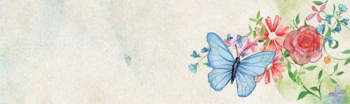 Banner Web Romantic Butterfly