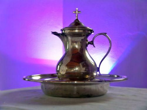 baptism baptism tableware purple