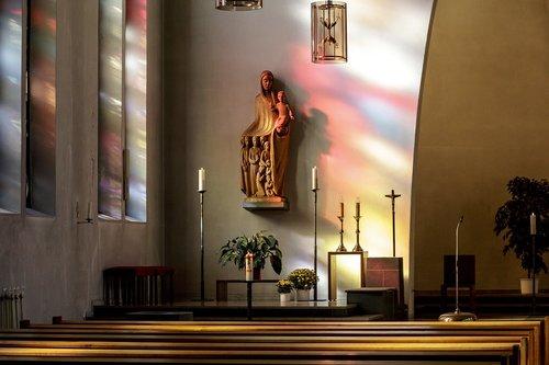 baptism  church  statue