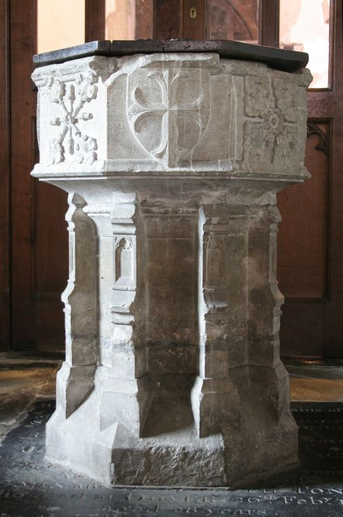 baptism font st michael's church