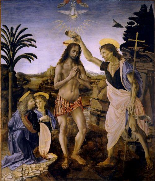 baptism of christ leonardo de vinci andrea del verrocchio