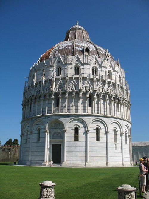 baptistery  pisa  tuscany