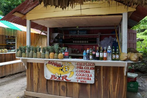 pineapple bar coconuts
