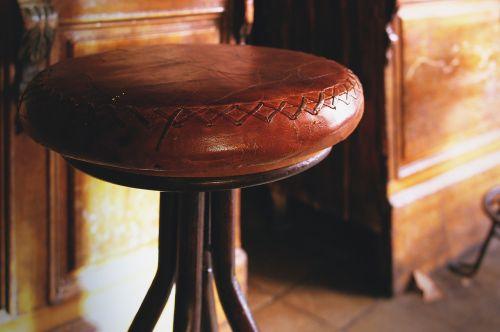 bar chair leather