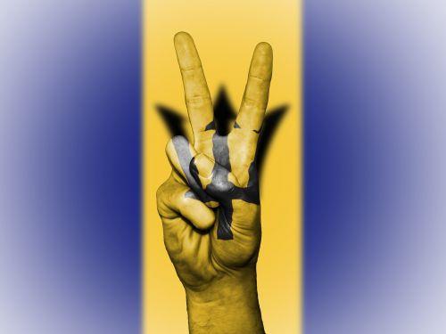 barbados flag peace