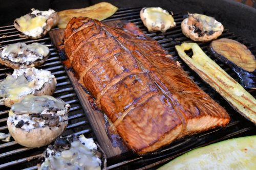 barbecue salmon stained
