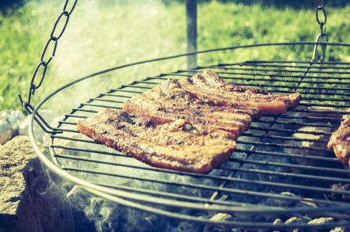 barbecue meat fire