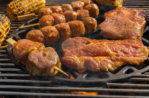 barbecue  grill party  eat