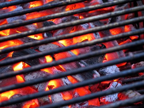 barbecue embers carbon