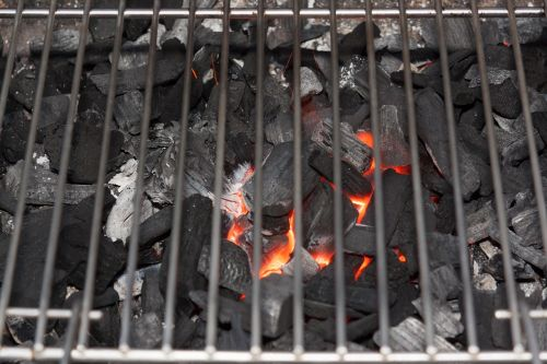 barbecue charcoal glow