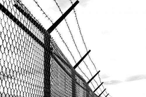 barbed wire fence old
