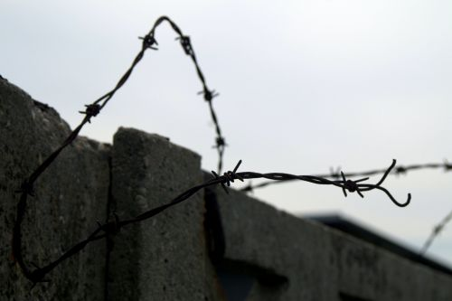 barbed wire the closure of prison