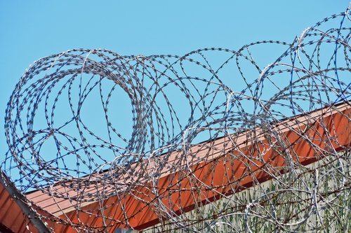 barbed wire  backup  fence
