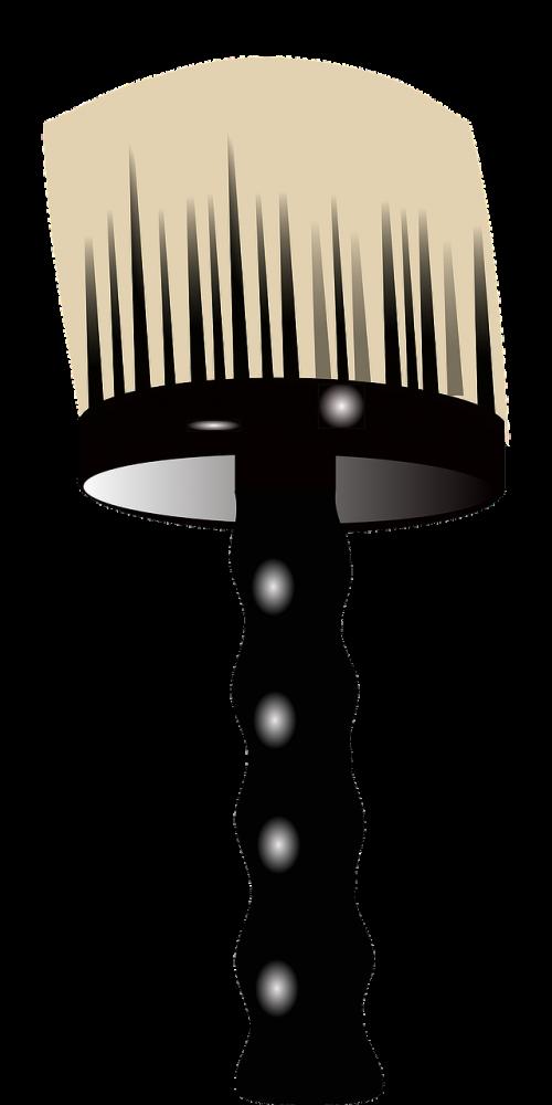 barber brush round