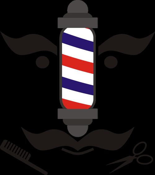 barber  moustache  scissors