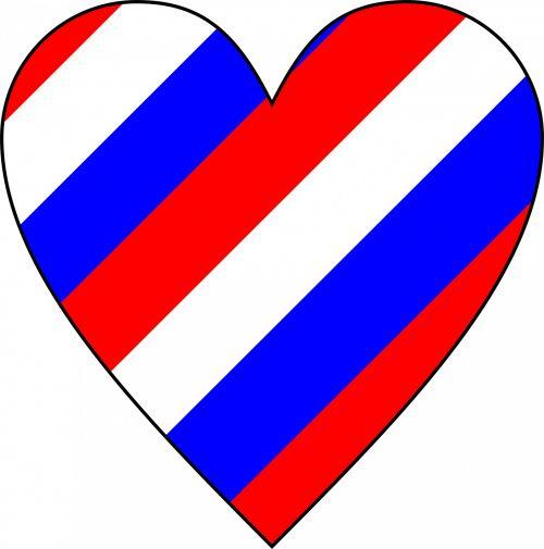 Barber Pole Heart