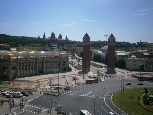 barcelona plaza españa montjuic