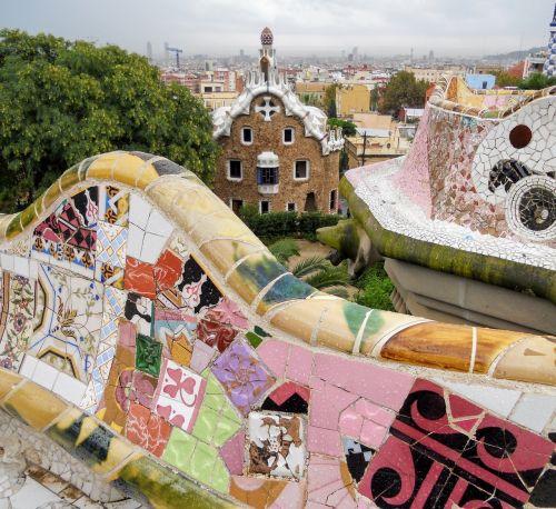 barcelona gaudí garden gaudí
